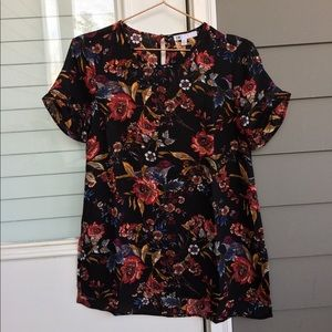 2/$15 DR2 Pintuck Pleat Sleeve Blouse XSmall
